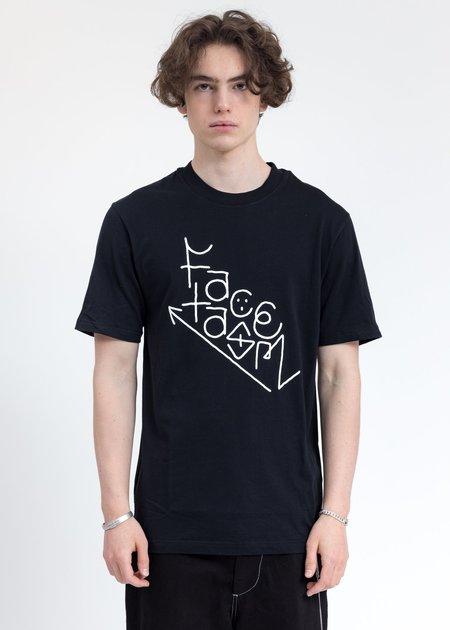 Facetasm Logo T Shirt - Black