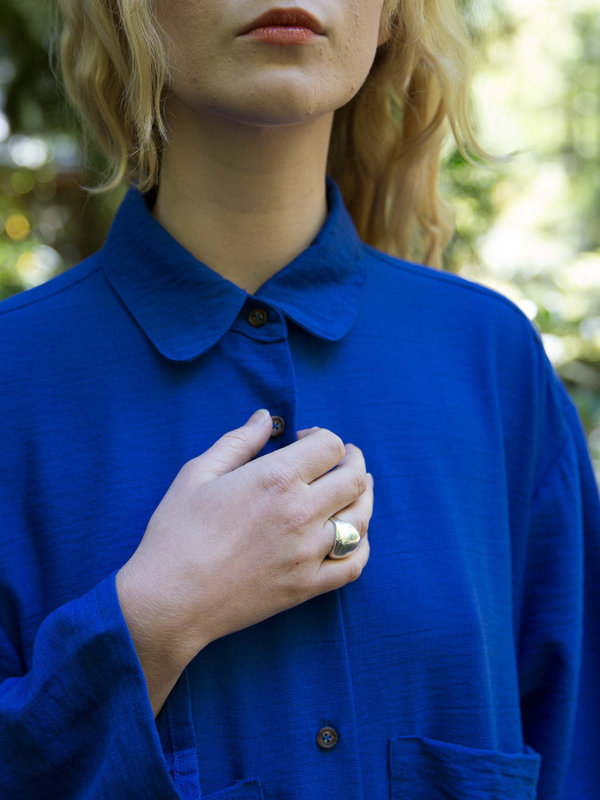 Sunja Link Blue Shirt Dress