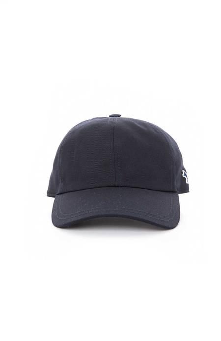 Maison Kitsuné Tri Color Fox Patch Hat - Navy