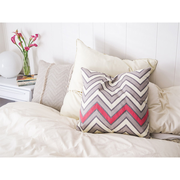 Erica Tanov embroidered zigzag throw pillow