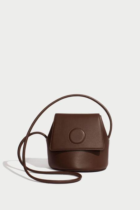 Modern Weaving Petite Trapeze Bucket Bag - Praline