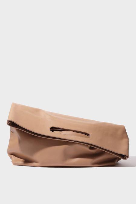 Modern Weaving Slouch Foldover Clutch - Dune