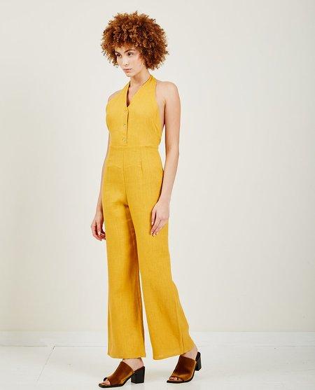 Paloma Wool Beirut Linen Jumpsuit - Ochre