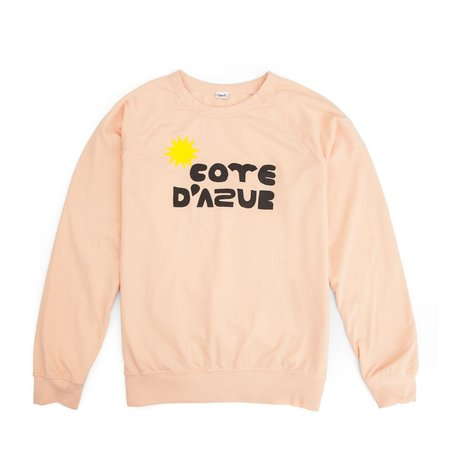 Clare V. Cote D'Azur Sweatshirt - Blush