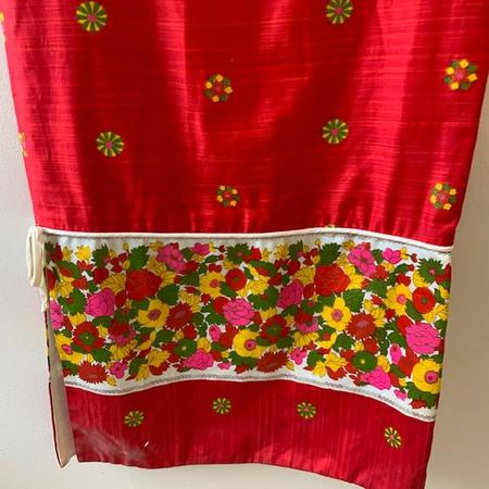Vintage Hawaiian Maxi Dress - Red Multi