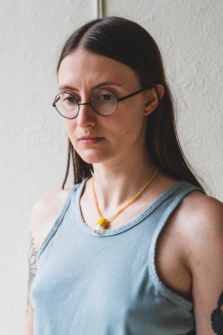 Robin Mollicone PENDULUM NECKLACE - YELLOW JASPER/LITHIUM QUARTZ