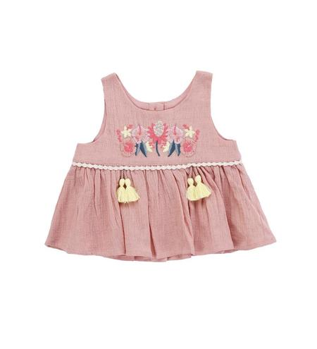 Kids Louise Misha Acacia Top - Rusty