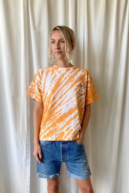 RE/DONE Tee - Tangerine Tie Dye
