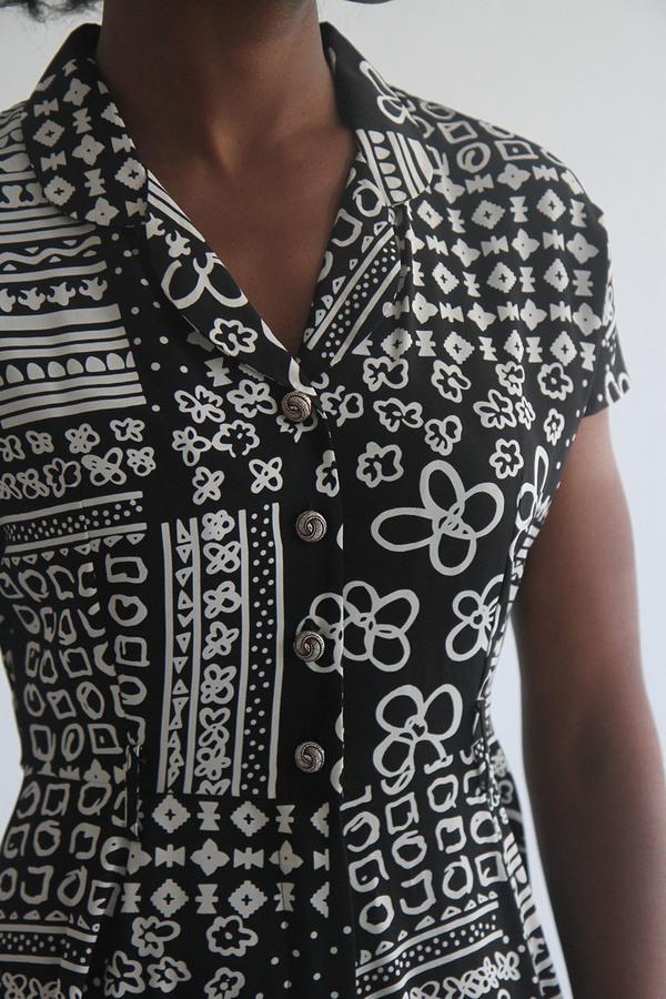 The Shudio Vintage Printed A-Line Dress