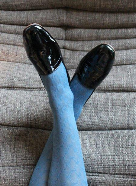 Meg Ops Ops Loafer - Patent Bardot Black
