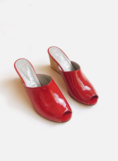 Meg Ops Ops Wedge - Patent Tomato