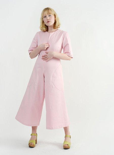 Meg Round Pocket Jumpsuit - Pink