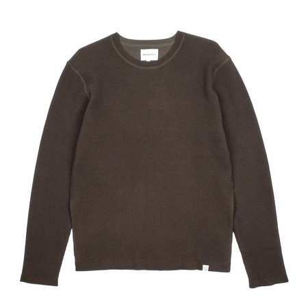 Norse Projects RAFFO AIR KNIT sweater - BEECH GREEN