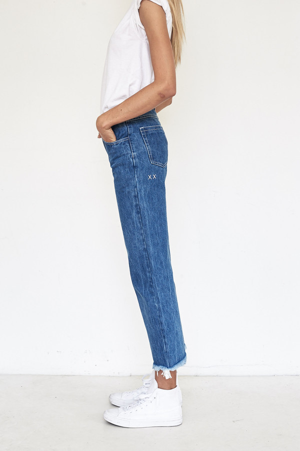 Sandy Liang Cotton Grandpa Jeans