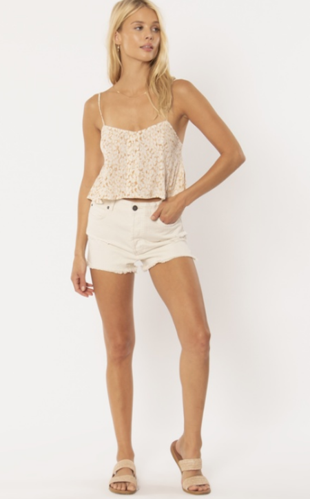 Amuse Society Blissed Out Woven Tank - natural
