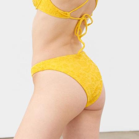 Mara Hoffman Reva Bikini Bottom - Yellow