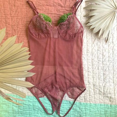 Only Hearts Whisper Sweet Nothings Coucou Bodysuit - Pink Bronze