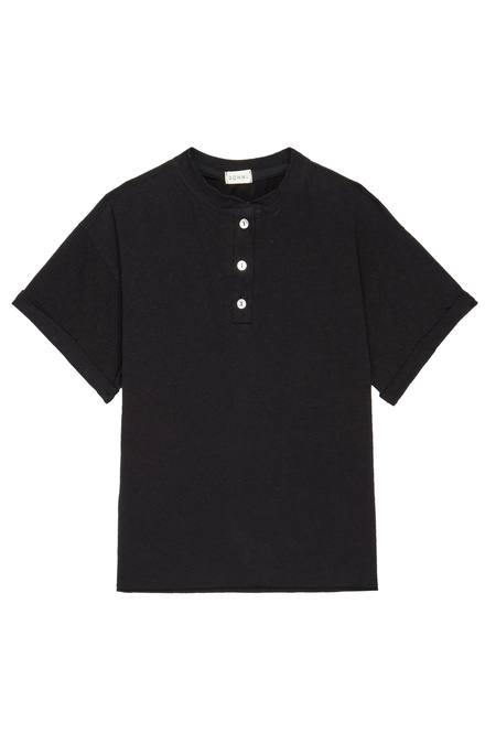 Donni. Henley Short Sleeve Tee - Jet