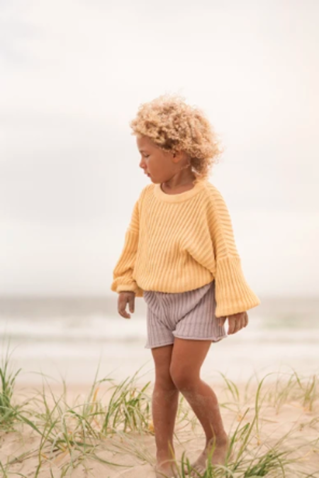 Kids Illoura the Label Knit Shorts - Lilac