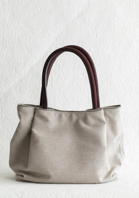 Coralie Ash Mohna Midsize Heritage Linen Tote Bag - ASH