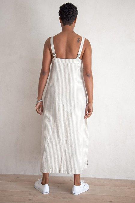 Ali Golden Square Dress - Natural Stripe