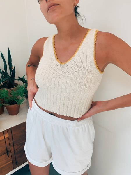 Kordal Scallop Tank - Cream