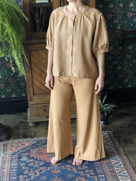 Town Clothes Linen Market Blouse - Camel