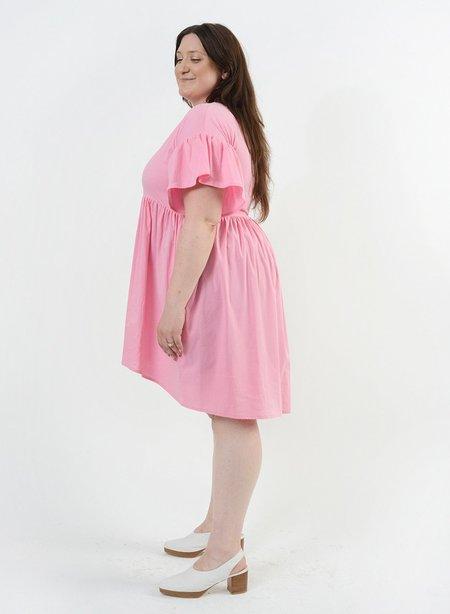 Meg Hawaiian Dress - Flamingo