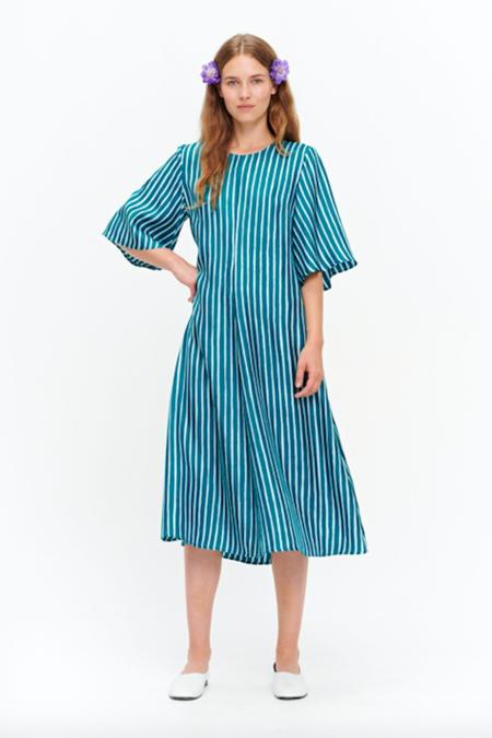 Marimekko Ujeltaa Piccolo Dress - Green/Turquoise