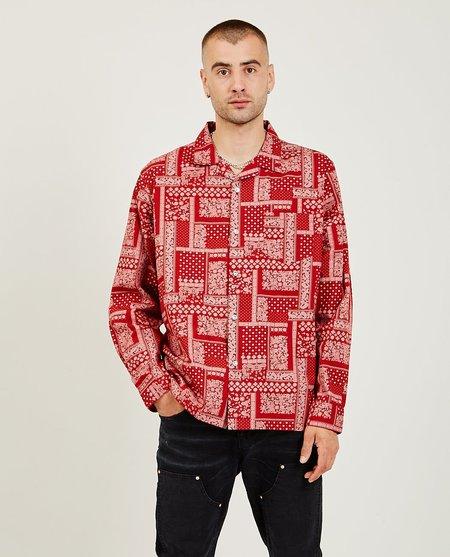 PURPLE Bandana Shirt - Red