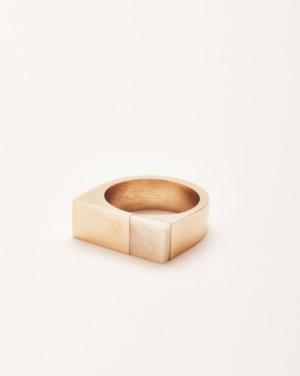 Nisolo Brass and Bone Plane Ring - What's It Worth