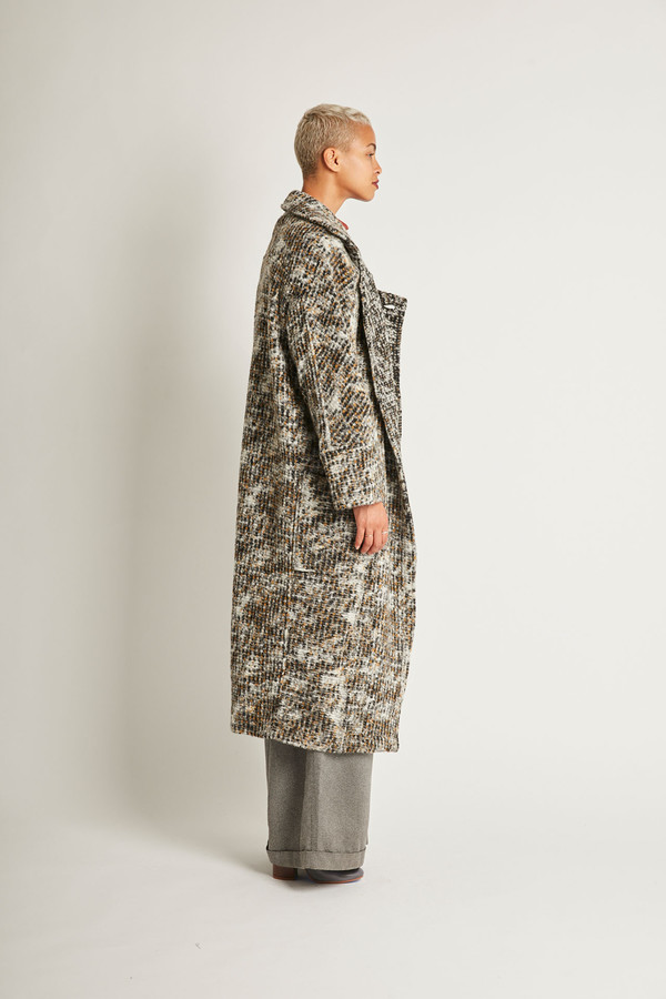 Kurt Lyle Bangsy Coat in Gravel