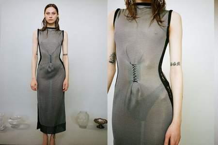 Kepler Stitch Dress - Grey