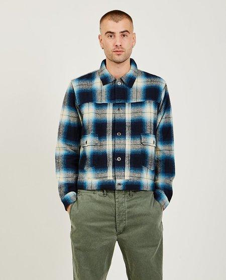 RRL Plaid Shirt Jacket - Blue/White Plaid