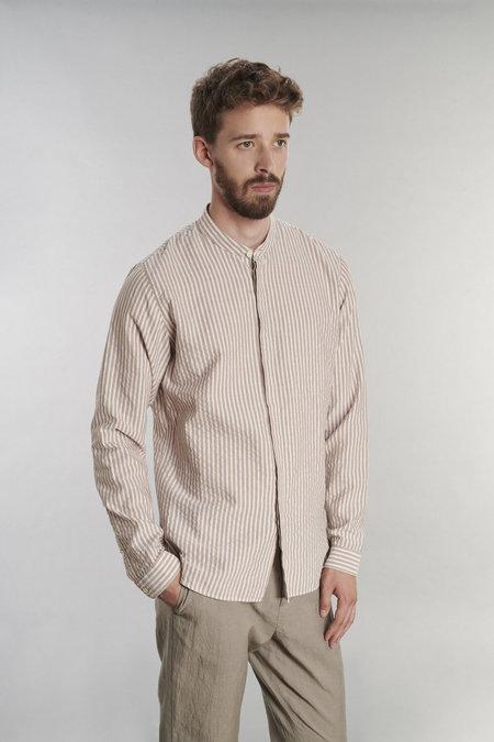 Delikatessen Zen Cotton Linen Blend Shirt - Beige
