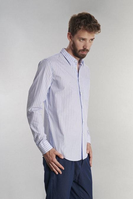 Delikatessen Feel Good Cotton Shirt - Blue Striped