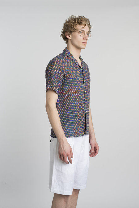 Delikatessen Finest Italian Linen Short Sleeve Shirt