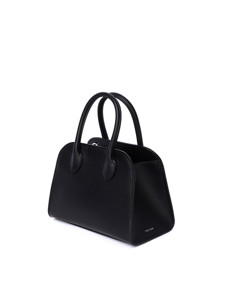 The Row Margaux 7,5 Leather Bag - Black