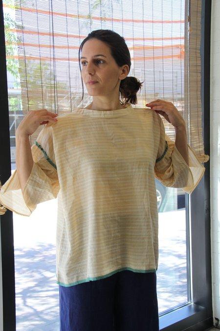 EKA Silk Clary Shirt - Yellow Stripes