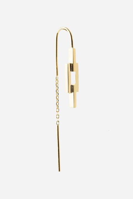 Maria Black Auro Chain Earring - gold