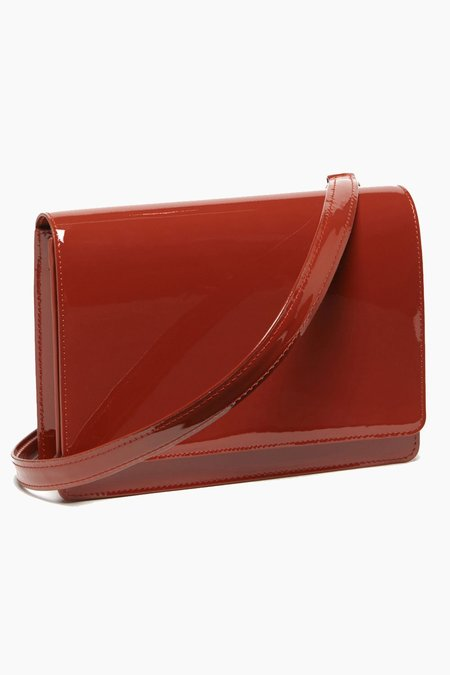 The Stowe Evelyn Bag in Patent leather - Tomato