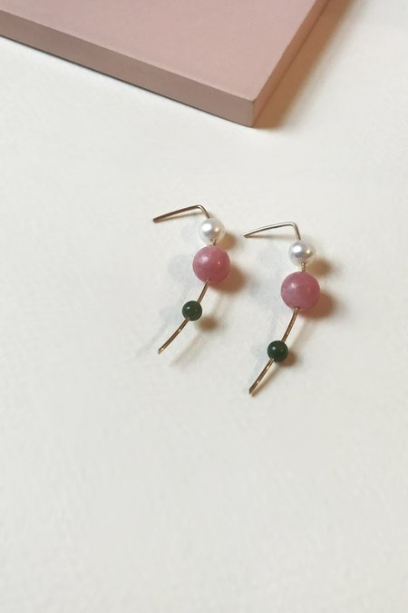 Mau Orion Drop Earrings - Rhodo