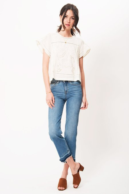 Primary New York Rae Pintuck Top - Natural