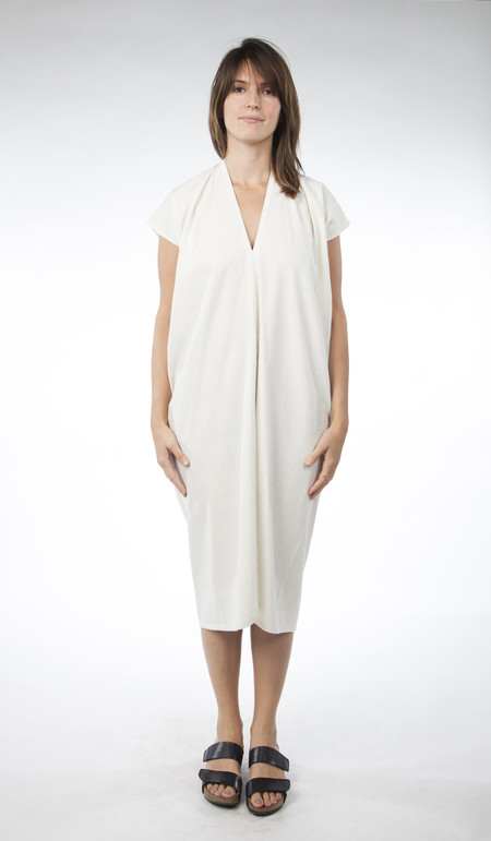 Miranda Bennett In-Stock: Everyday Dress, Oversized, Silk Noil in Natural
