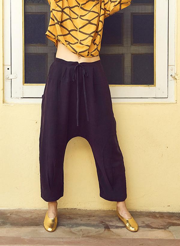 Seek Collective Jaipur Pant Solid Aubergine