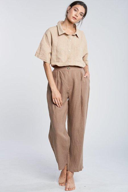 FILOSOFIA Ella Linen Pants -  Wheat