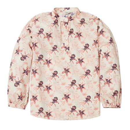 Grayers Stacy Popover Blouse - Cream Floral