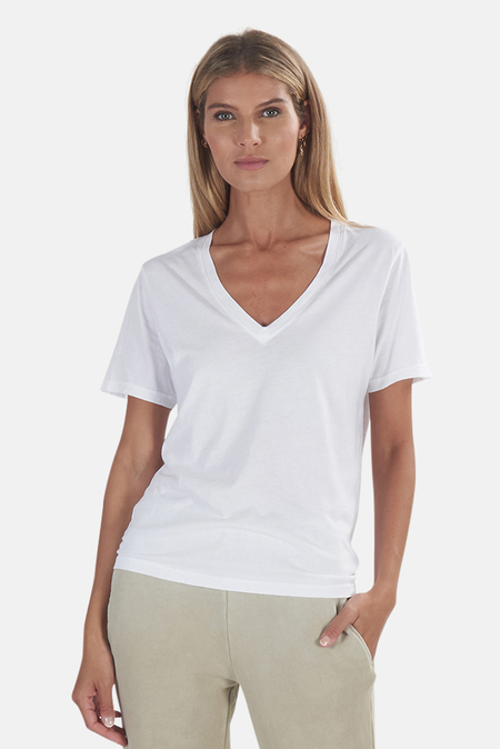 Cotton Citizen Sydney V Neck Tee - White