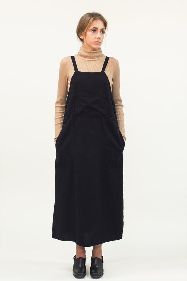LACAUSA Overall Dress- Black