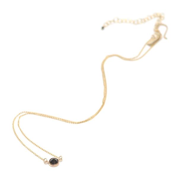 Favor Black Stone Thorn Necklace
